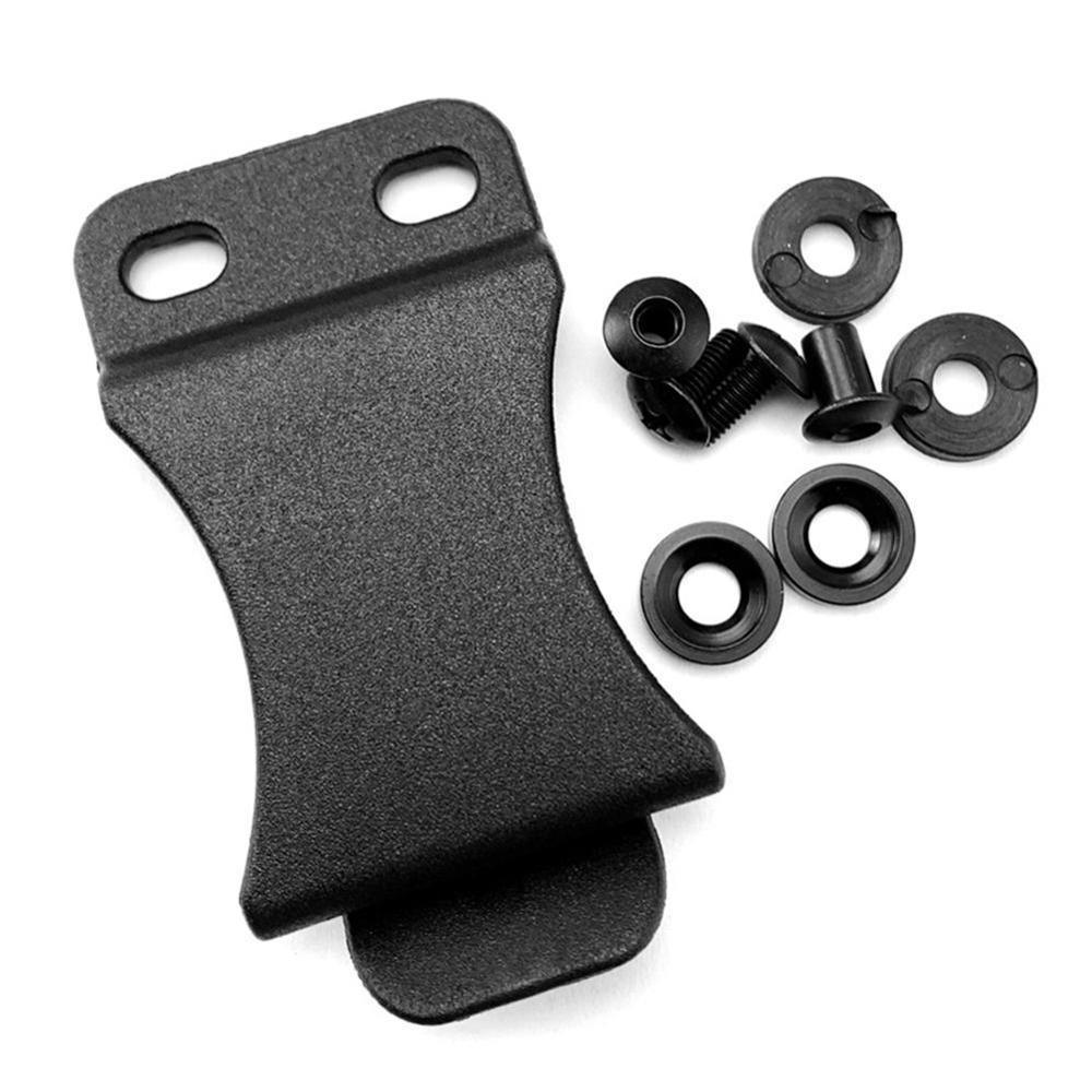 Tactical K Sheath Holster Waist Clip Outdoor DIY Pocket Sheath Belt Clips With Screws For Kydex Holster