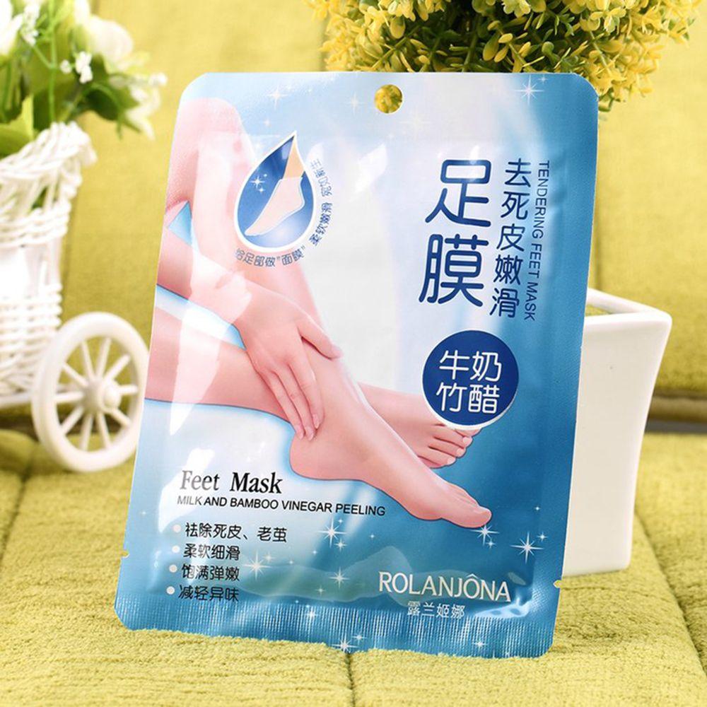 2pcs=1Pair Dead Skin Remover Foot Mask Peeling Mask Exfoliating Pedicure Baby Feet Masks Heel Foot Care Mask-4