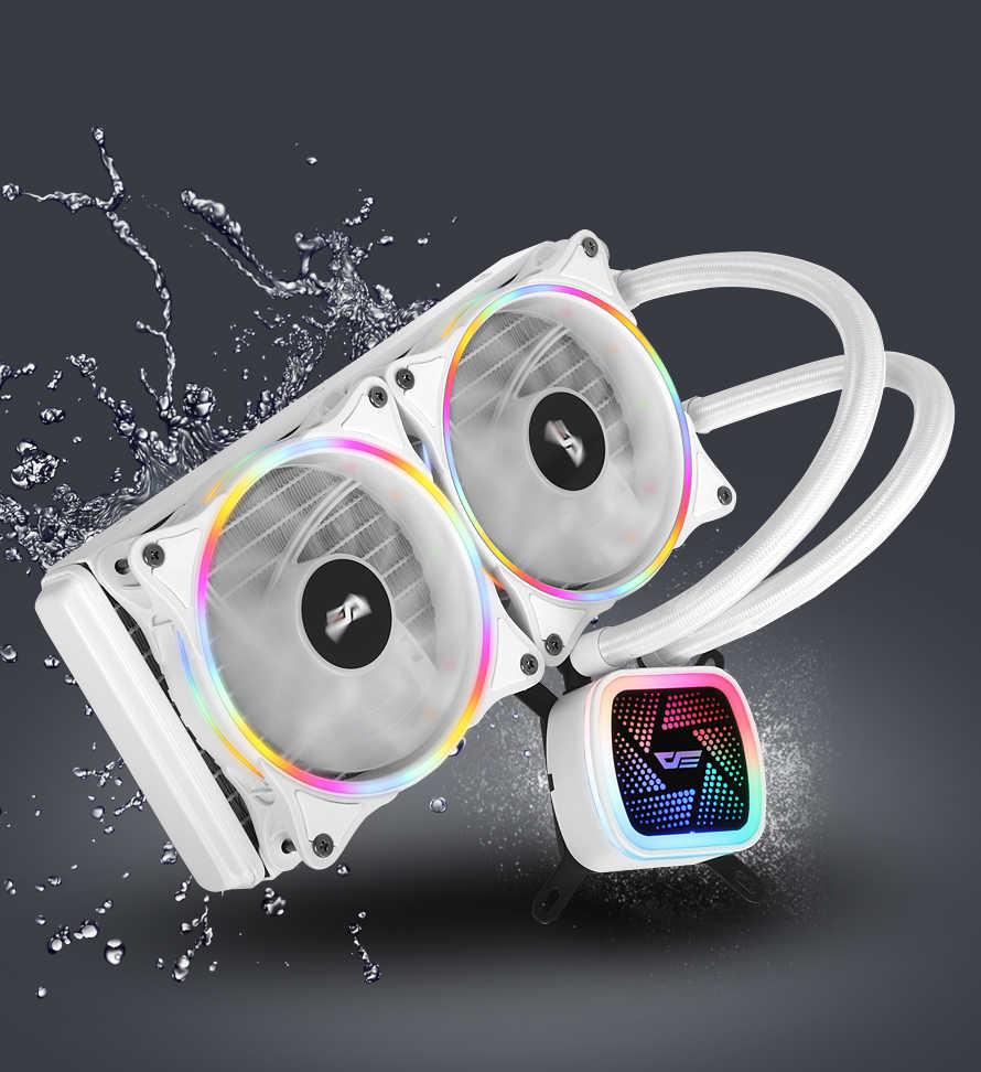 DarkFlash 愛国者 PC ケースコンピュータ CPU ファン T120/240 水クーラーヒートシンク統合水冷ラジエーターインテル/AMD サポート