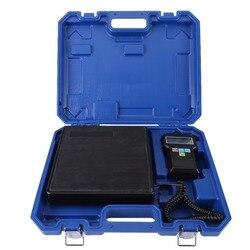 220lb/100kg elektroniczny czynnik chłodniczy ładowania cyfrowa waga do kontroli masy ciała z przypadku dla A/C narzędzia w Wagi kuchenne od Dom i ogród na