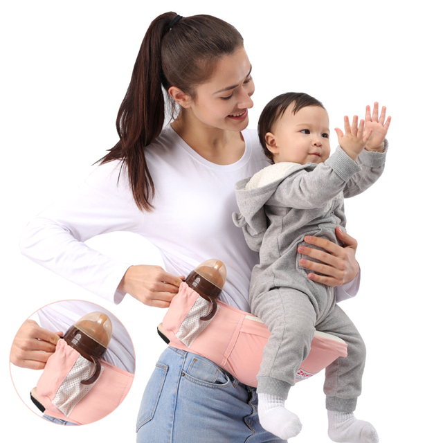 Hipseat Front Facing Ergonomic Baby Carrier Backpack Hip seat Carrier Waist Stool Belt Baby Kangaroo Carrying For Small Children | Happy Baby Mama
