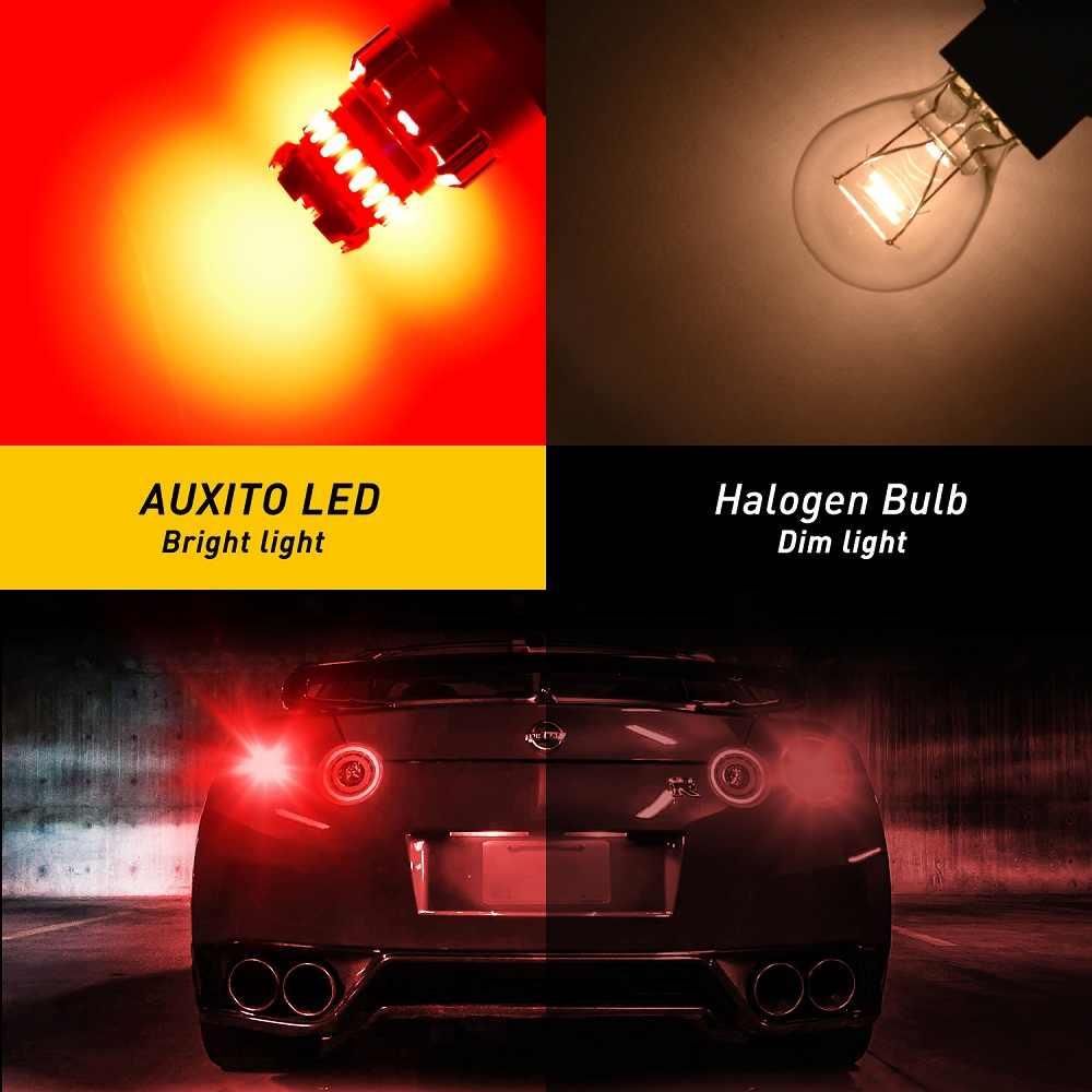 2x LED światło stroboskopowe światło stop T20 W21W W21/5 W WY21W 7440 7443 żarówka LED T25 3157 3156 P27/7 W LED hamulec samochodowy ogon czerwone światło biały