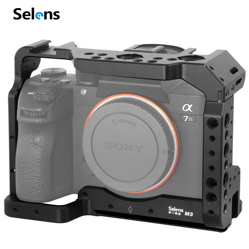 Selens A7iii A7r3 A7m3 Cage For Sony A7RIII /A7III/A7MIII Aluminum Alloy Cage To Mount Tripod Quick Release Extension Kit-2087