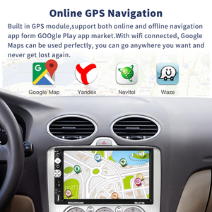 Image 4 - Podofo 2 Din Car Radio Android Universal GPS Navigation Bluetooth Touch Screen Wifi Audio Stereo FM Car Multimedia MP5 Player