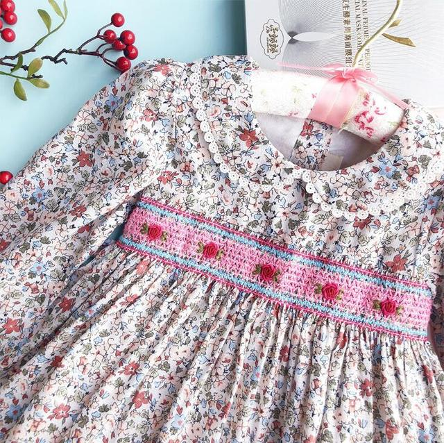 Autumn Smocked Dress Little...