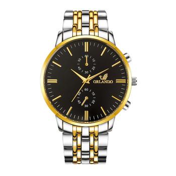 Złoty żółty stalowy pasek ze stali nierdzewnej zegarek męski 2021 luksusowy męski zegarek kwarcowy męski męski zegarek biznesowy męski zegarek Relogio tanie i dobre opinie Eillysevens 223cm simple QUARTZ NONE bez wodoodporności Zapięcie bransolety CN (pochodzenie) STAINLESS STEEL Szkło powlekane