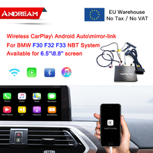 Wireless Android Auto CarPlay Interface Box For BMW 1 3 4 5 7 Series F30 F10 F11OEM Screen Upgrade NBT System Mirrorlink AirPlay цена 2017
