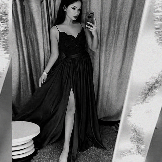 섹시 슬릿 댄스 파티 드레스 2020 스파게티 스트랩 긴 파티 가운 vestidos 드 graduacion 레이스 bodice 부르고뉴 댄스 파티 드레스