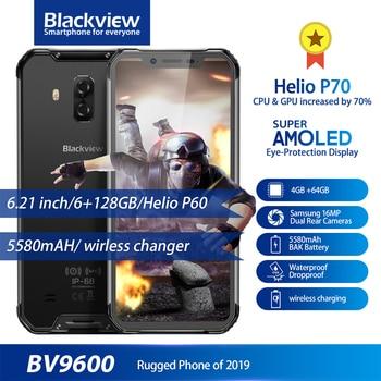Купить Blackview BV9600 IP68 IP69K прочный водонепроницаемый Helio P70 Global 4G телефон 6,21 дюймAndroid 9,0 смартфон 4 Гб 64 Гб MT6771T 5580 мАч