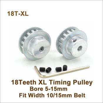 POWGE 18 dientes XL polea síncrona diámetro 5-15mm ajuste W = 10/15mm XL correa de distribución 18 T 18 dientes XL accesorios de máquina de polea 18-XL