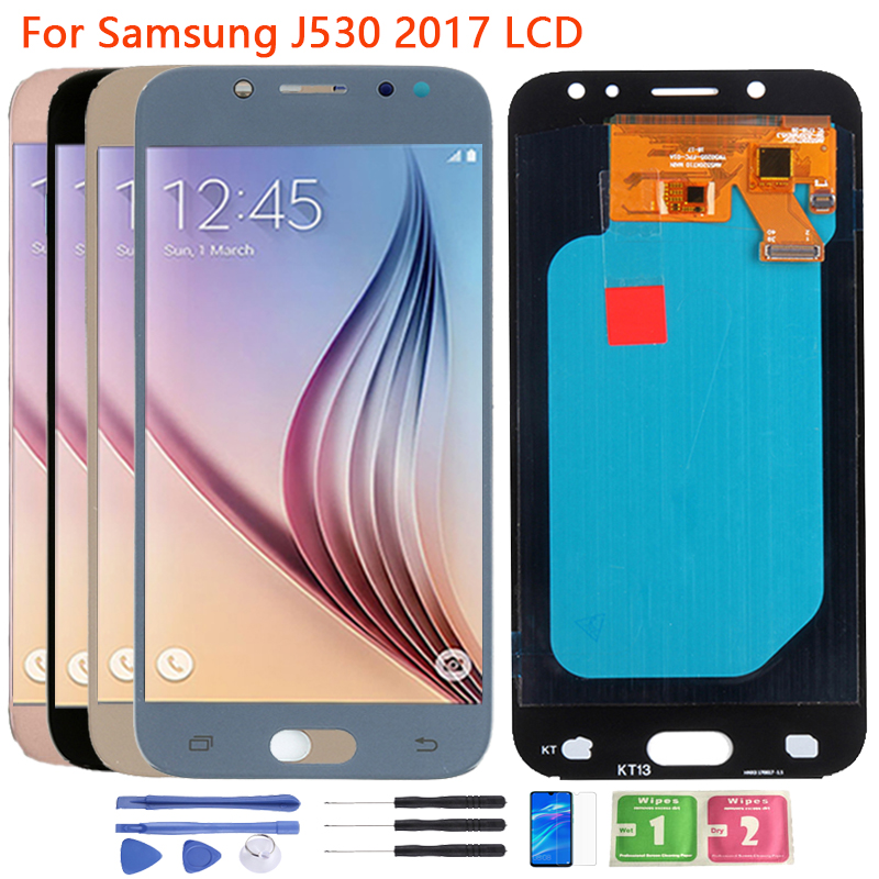 SUPER AMOLED J530 LCD For <font><b>Samsung</b></font> <font><b>Galaxy</b></font> <font><b>J5</b></font> <font><b>2017</b></font> LCD <font><b>Display</b></font> Touch Screen Frame Assembly SM-J530F J530N LCD Screen Replacement image