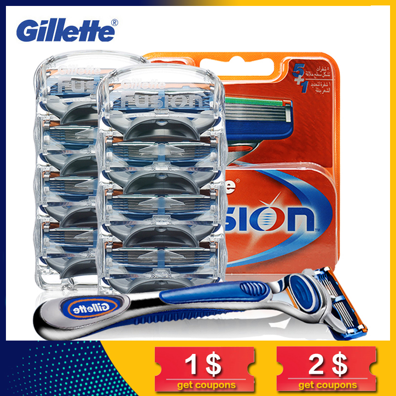 Gillette Fusion Razor Blades For Men Sharp Trimmer Straight Razor Case Cover Manual Five Layer Shaver Blade Tools