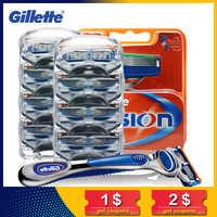 Gillette Fusion Razor Blades for Men Sharp Trimmer Straight Razor Case Cover Manual five Layer Shaver Blade Tools