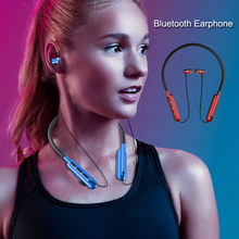 2019 New Fashion Bluetooth Earphone Magnetic Stereo Sports Earbuds Wireless in-ear Headset with Mic Support TF Card MP3 Player 2017 mini503 ear hook mini sports wireless bluetooth headset hi fi handsfree stereo earphone headphone tf card for mp3 player