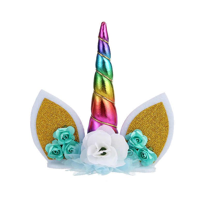 مجموعة أكواب ليكورن للكيك هدية للزفاف والكيك على شكل وحيد القرن وديكور لأعياد الميلاد أداة تزيين لشخصية إنيفرساير ليكورن