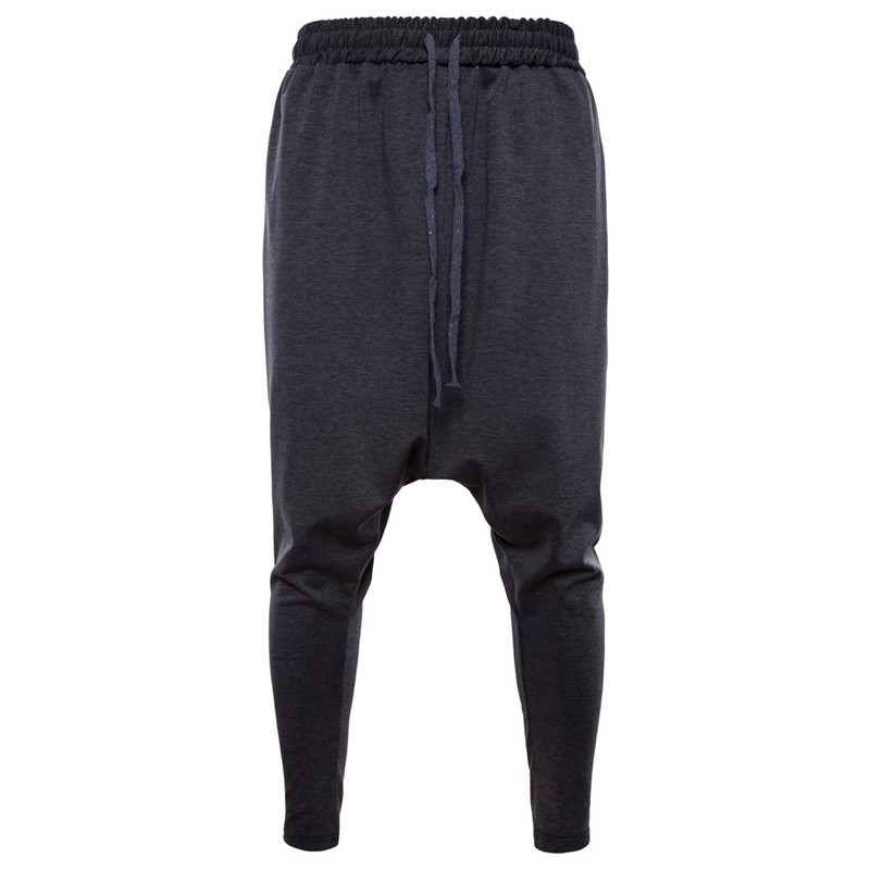 2019 New Men's Cotton Harem Pants Plus Size Men Streetwear Casual Black Grey Loose Sweatpants For Male Spring Autumn S-2XL