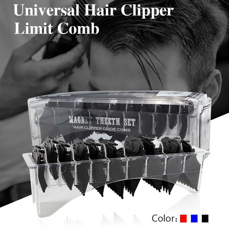10pcs Universal Limit Comb Hair Clipper Oil Head Strong Magnetic Buckle Hair Clipper Limit Comb Styling Accessories