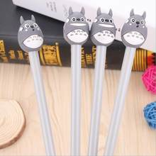 Ellen Brook 1 PCS Stationery Cartoon Cute Cat Totoro Lovely Gel Pens Student School Supply Kawaii Office Creative Handles Gift(China)