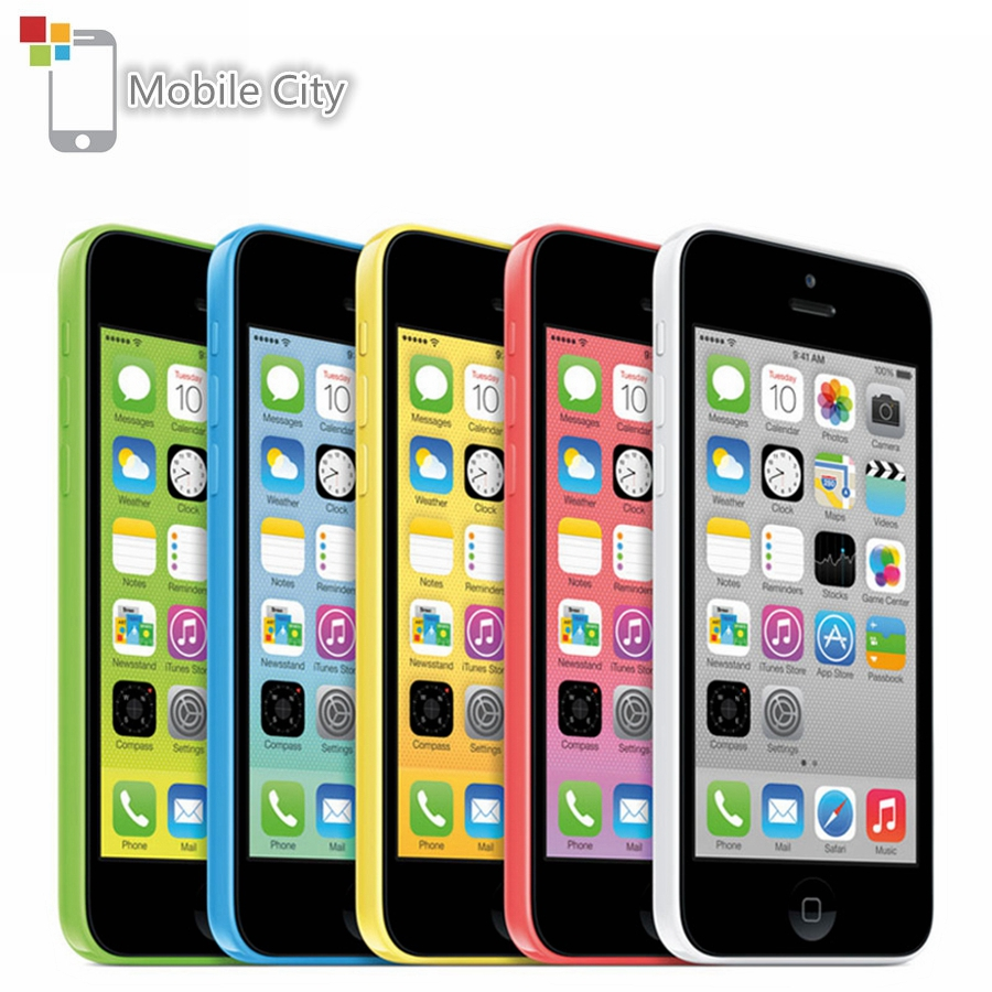 "Original Unlocked Apple iPhone 5C Dual Core 4.0"" 8MP Mobile Phone 8GB/16GB/32GB ROM IOS GPS WCDMA 3G Used Smartphone Cell Phone"