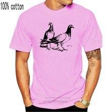2020 nova moda ment-camisas de manga curta gola redonda manga curta camisetas-pombos-camiseta de algodão masculino
