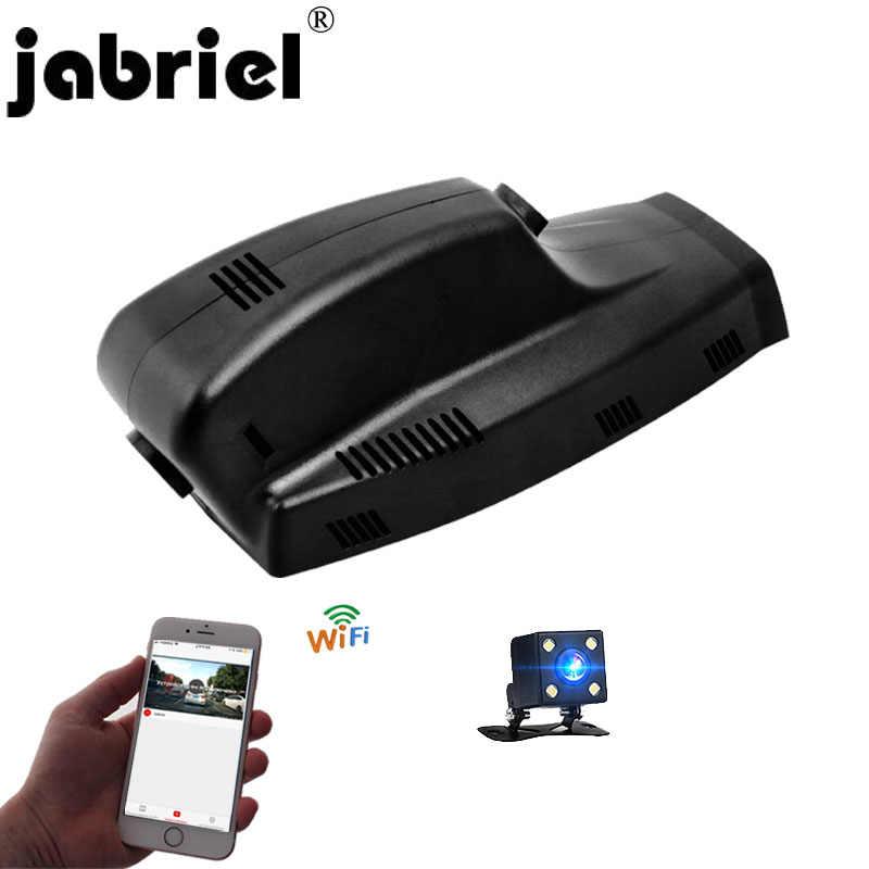 Jabriel Ẩn 1080P tự động 24 giờ ghi âm xe hơi Đầu ghi hình Dash Cam hai ống kính camera sau cho XE BMW X5 E70 e46 E60 E90 F10 F15 F25 F30 G30