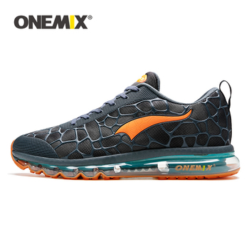 ONEMIX New Style Men Running Shoes Outdoor Leather Jogging Trekking Sneakers Summer Breathable Mesh Athletic Women Sport Shoes 1