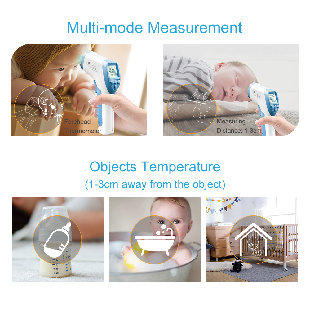 GL Infrared Forehead Thermometer Baby Digital Thermometer Blacklight  IR LCD Non-contact Body Temperature In Baby Thermometers