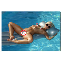 Sexy Girl in The Swimming Pool Photo Decorative Posters and Prints Canvas Painting Wall Art Picture For Living Room Decor(China)