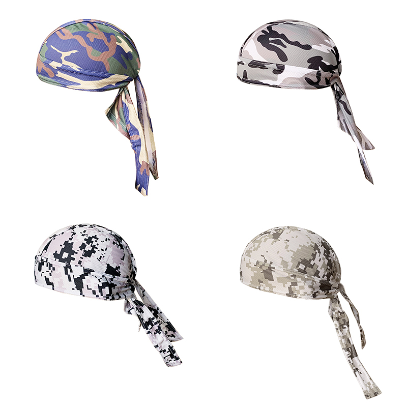 2019 New Cycling Pirate Cap Quick Dry Pure Head Scarf Riding Fishing Hiking Running Absorption Antibacterial Hat Hood Headband