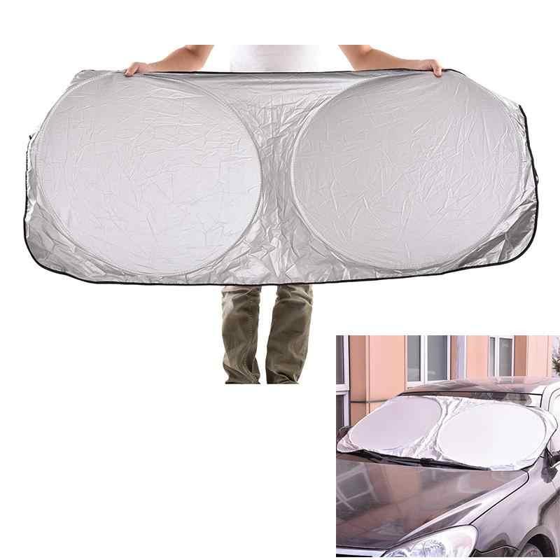 Składana Jumbo przednia tylna osłona przeciwsłoneczna na okna samochodu gorąca ochrona uv folia na szyby samochodowe Auto Visor szyba przednia szyba przeciwsłoneczna pokrywa na bloki