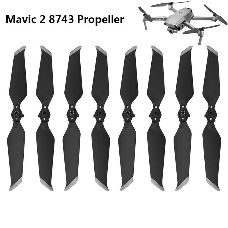 8pcs Propeller For DJI Mavic 2 Pro Zoom 8743 Low-Noise Props Quick-Release Folding Blade Noise Reduction Prop Drone Accessory