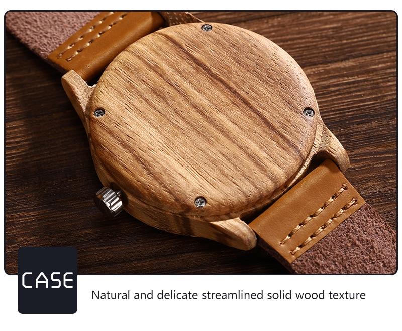 Accept Photo Personalized Customized Printing Your Photo Men Watch Unique Bamboo Wood Quartz Wristwatch Creative Souvenir Gifts 2020 2021 BOBO BIRD (10)