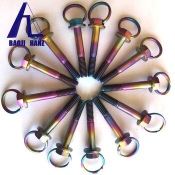 Rainbow flanged hex titanium bolt for decoration