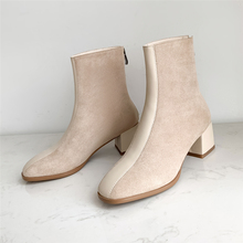Plus Size 34-43 Women Mixed Colors Martin Boots Comfortable Mid Heel Ankle Boots Fashion Sexy Ladies Warm Winter Shoe Women Boot keen utility women s detroit mid boot