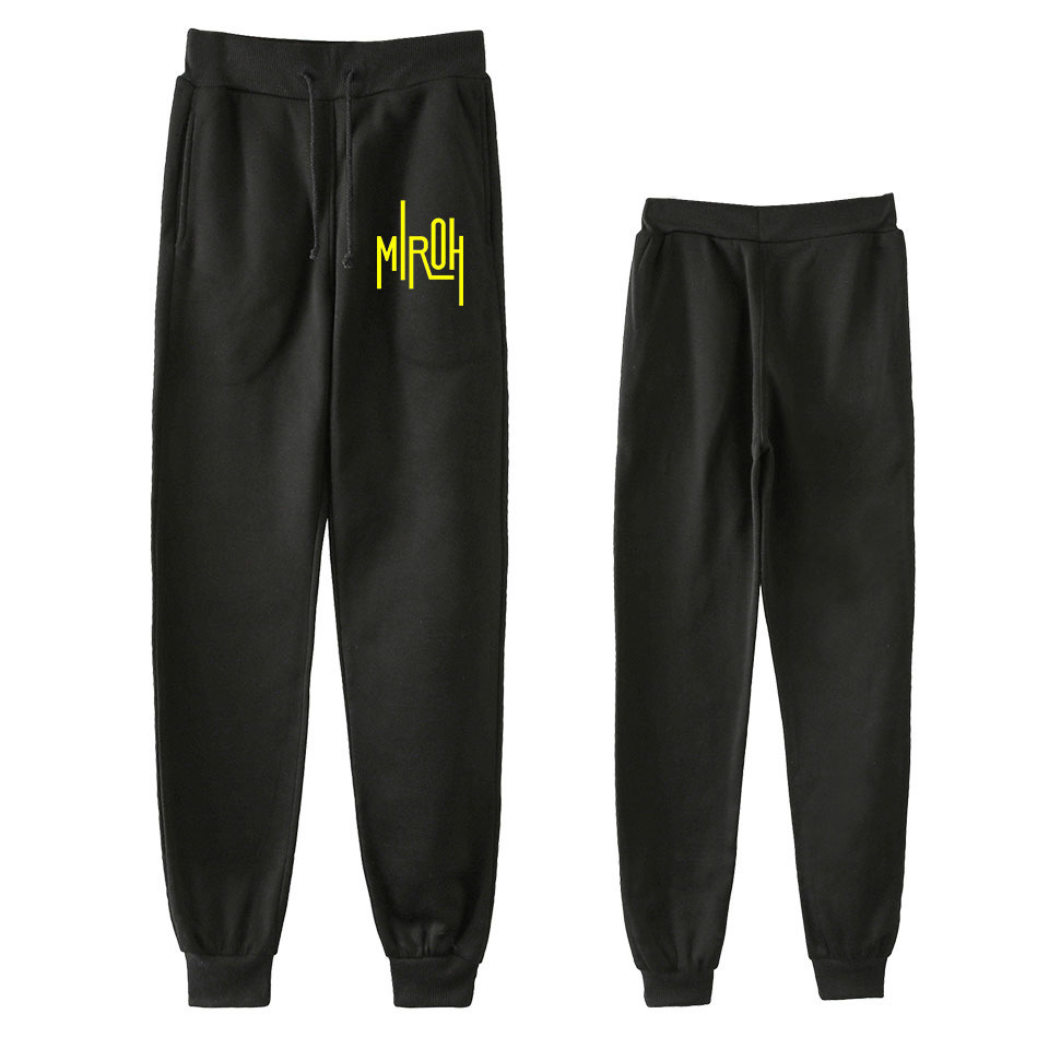 2019 Hot Sales New Style Version Stray Kids Series Theme Printed Fashion Simple Men And Women Ankle Banded Pants