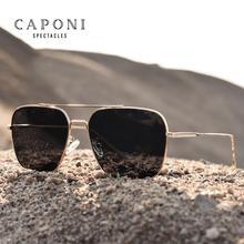 CAPONI Square 2020 Sunglasses Men Polarized Vintage Fashion Men's Sun Glasses Fo