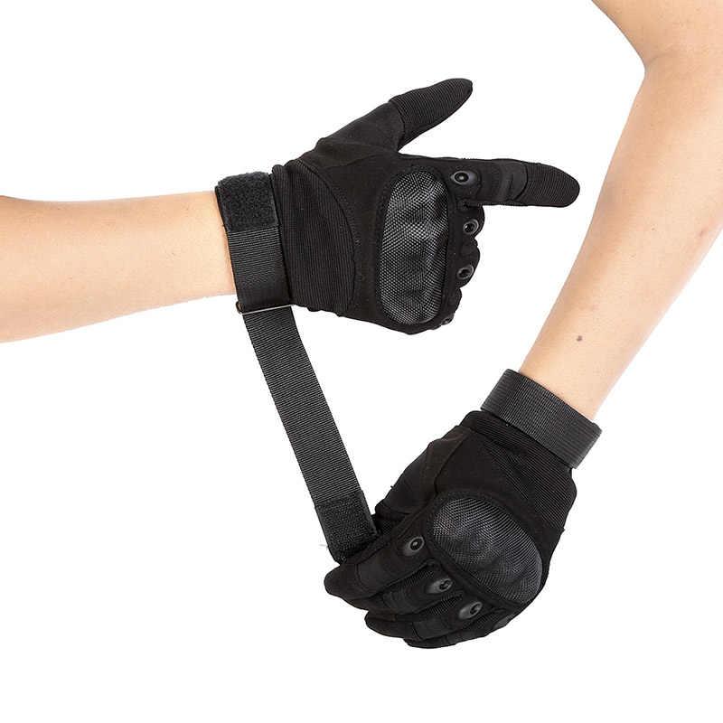 Açık dokunmatik ekran taktik eldiven askeri ordu Paintball çekim Airsoft savaş Anti-Skid tam parmak eldiven