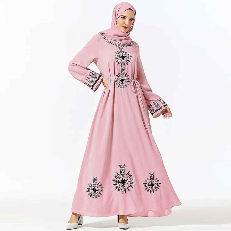 Kaftan Abaya Dubai Hijab Muslim Dress Girls Islamic Clothing