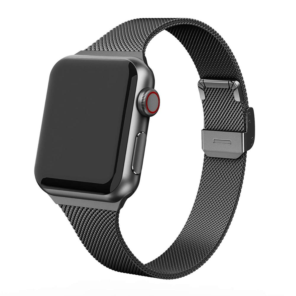 Milanese Strap For Apple Watch 5 Band 44mm IWatch Band 40mm Silm Stainless Steel Metal Bracelet Apple Watch 4 3 2 1 42 38 Mm