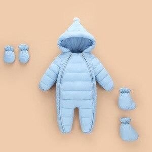 Image 3 - 3 uds. Ropa de Otoño Invierno para recién nacidos, chaqueta de plumas para bebés, niños y niñas, abrigo cálido para escalar, peleles gruesos para niños, prendas de vestir exteriores