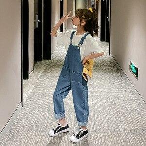 Image 4 - 2020 ฤดูใบไม้ผลิใหม่มาถึงสั้นเด็กOverallsกางเกงสำหรับสาวแฟชั่นเด็กกางเกงยีนส์กางเกงหลวมกางเกงหญิงกางเกง,#8329