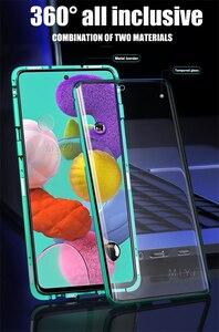 Image 2 - Funda magnética de doble cara con tapa de protección completa de 360 °, cubierta trasera de vidrio templado para Samsung Galaxy A 51 71, A51, A71