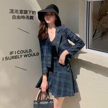 New Arrival Autumn England Style Women Long Sleeve Plaid Jac