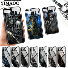 Grim Reaper Skull Skeleton Glass Case for Samsung S7 Edge S8 S9 S10 Plus S10E Note 8 9 10 A10 A30 A40 A50 A60 A70