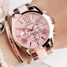 Ladies Fashion Pink Wrist Watch Women Watches Luxury Top Brand Quartz Watch M Style Female Clock Relogio Feminino Montre Femme