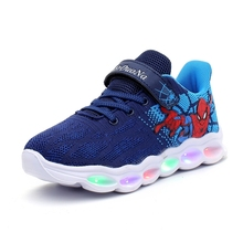 2019 Spiderman princess led shoes kids shoes girls children boys light