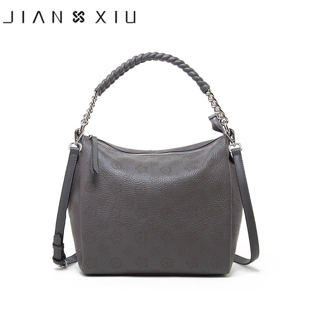 Marca JIANXIU, bolso de cuero genuino, bolsos de lujo para mujer, bolsos de diseñador, bolso de mano 2020 hueco con flores, bolso de hombro femenino Bolso de mano femenino de marca, de lujo bolso de hombro, bolso compuesto de cocodrilo Cuero simple, bolso de mano de gran capacidad, bolso de compras B44-22