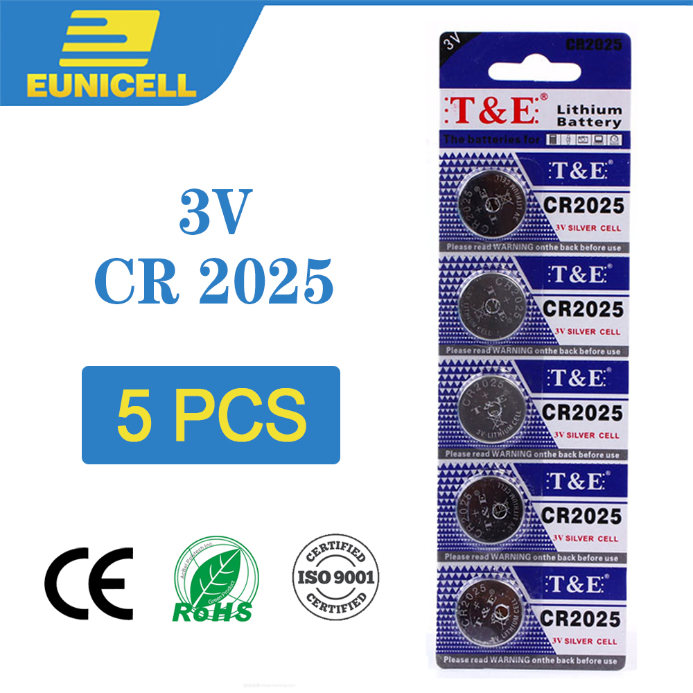 5pcs Lithium Cell Coin Battery 3V CR2025 CR 2025 Button Batteries ECR2025 DL2025 BR2025 KCR2025 L12 For Watch Toy Remote Scale