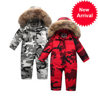 Clothing ,winter 90% Children's down jacket for girls boys snow wear ,baby kids coats jumpsuit