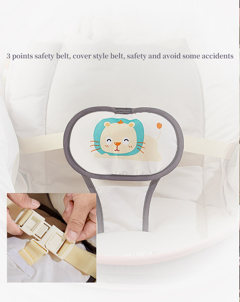 H7548678f92ab40f7abbf8bdb48d23526a Baby electric baby cradle vibration crib in bed rocking chair can do shaker recliner basket three functions optional